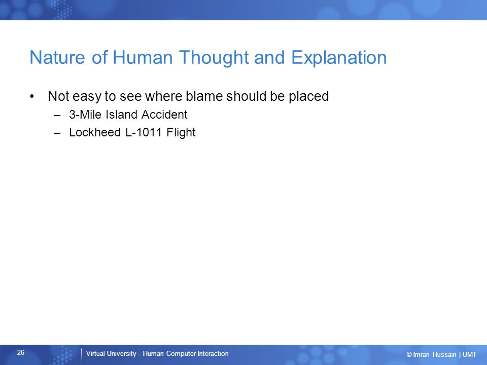 Nature of Human Thought and Explanation
