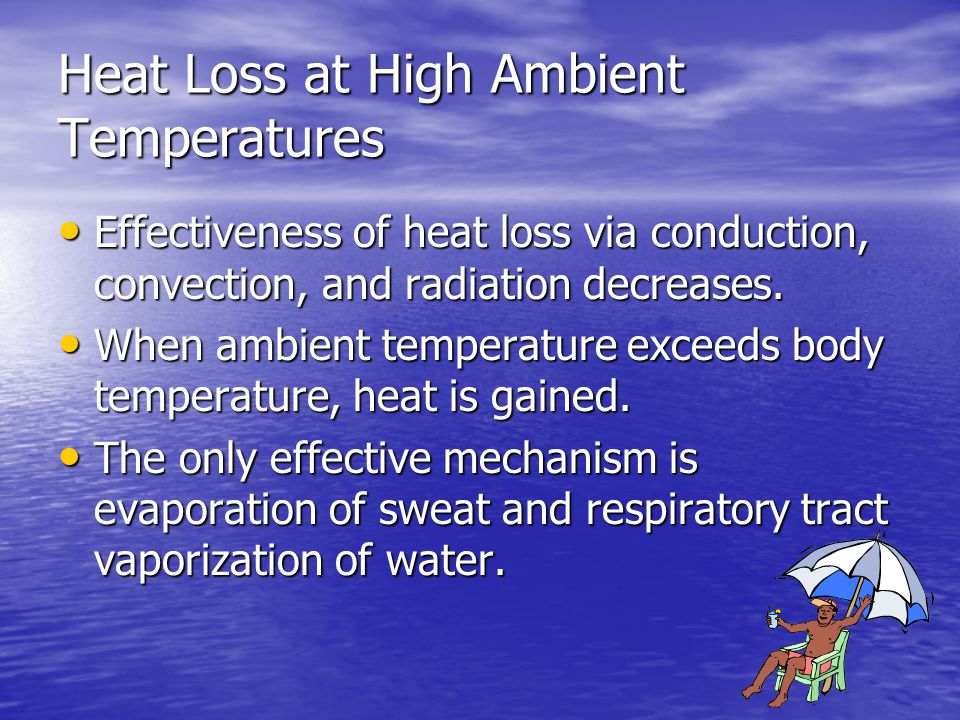 Heat Loss at High Ambient Temperatures