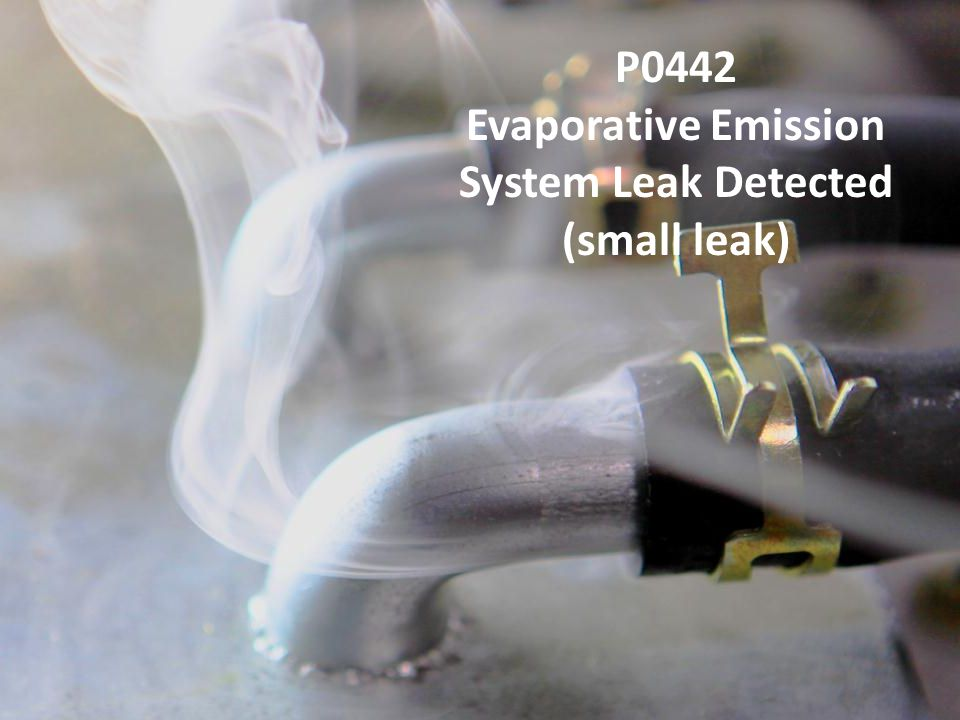 Evaporative Emission System Leak Detected (small leak)