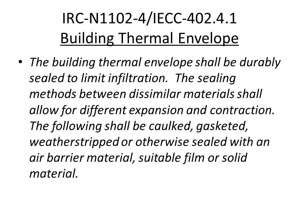 IRC-N1102-4/IECC-402.4.1 Building Thermal Envelope