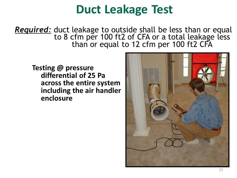 Duct Leakage Test