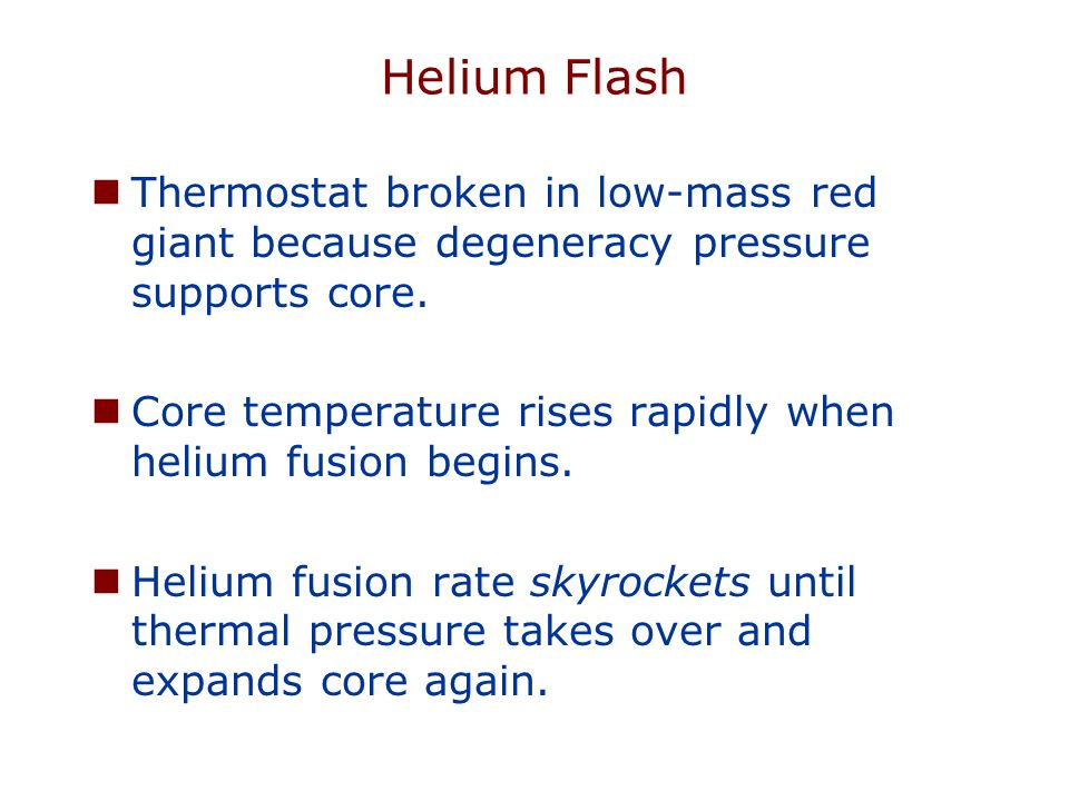 Helium Flash Thermostat broken in low-mass red giant because degeneracy pressure supports core.
