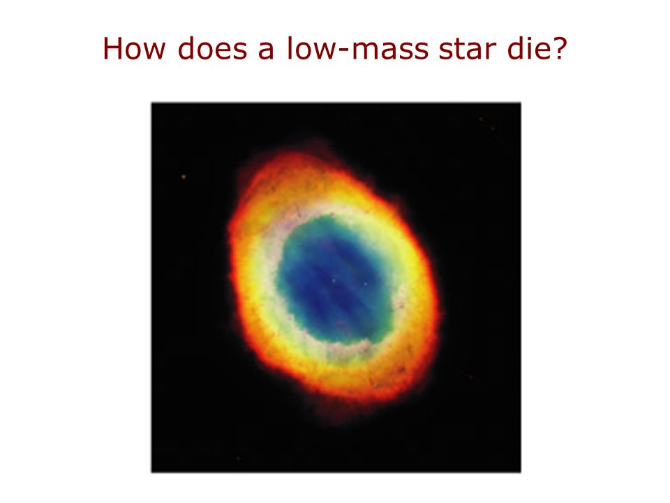 How does a low-mass star die