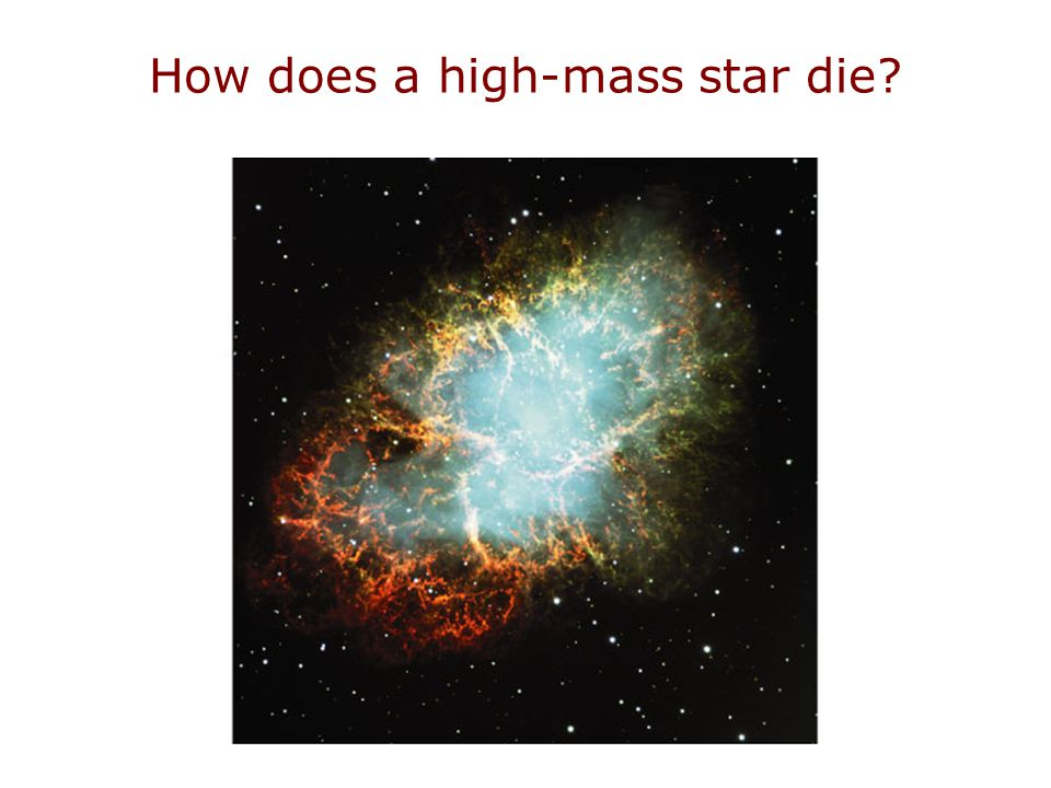 How does a high-mass star die