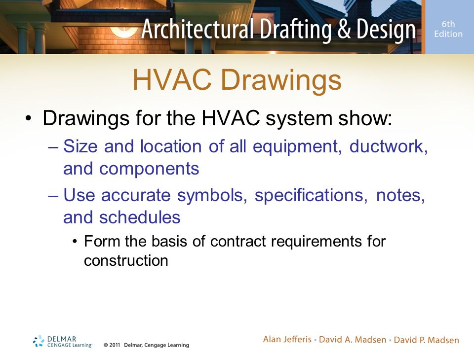 HVAC Drawings Drawings for the HVAC system show: