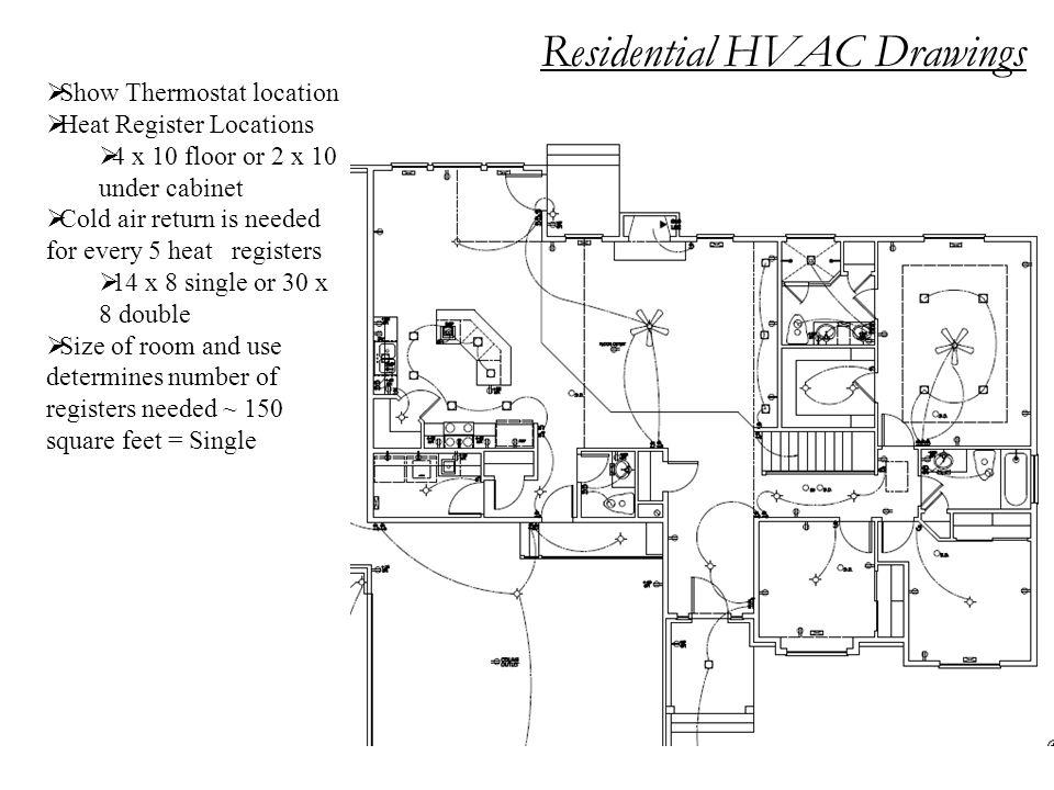 Residential HVAC Drawings