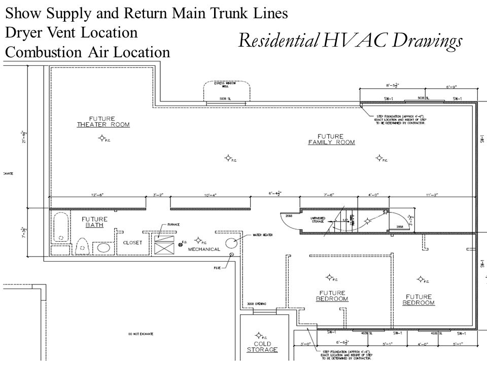 Residential HVAC Drawings