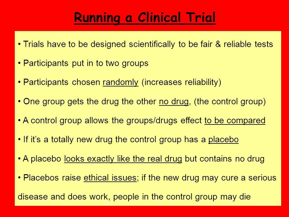 Running a Clinical Trial