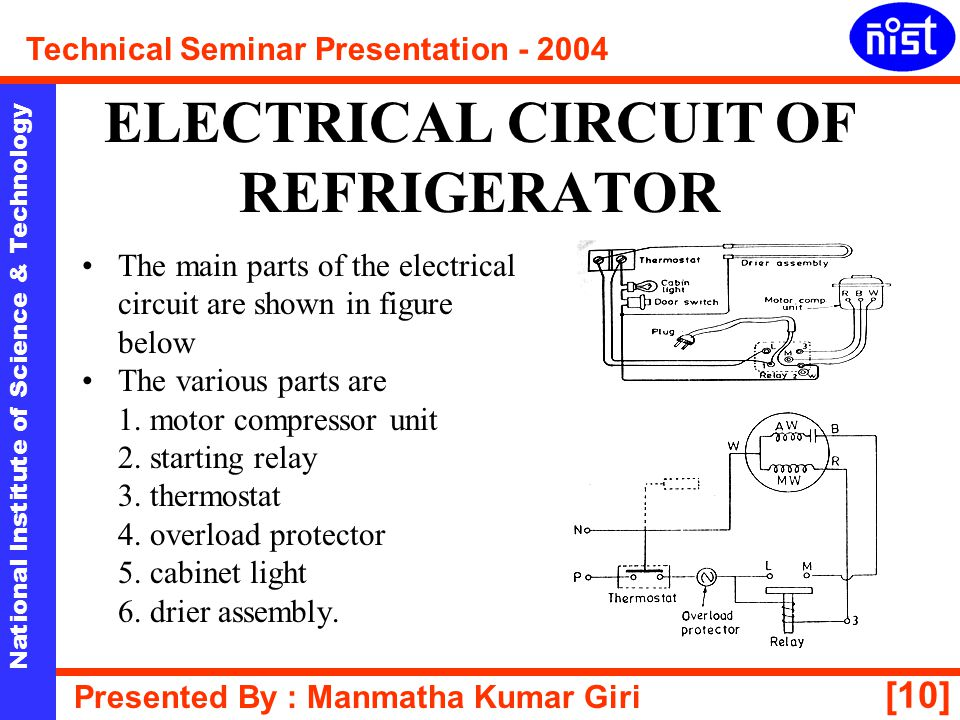 ELECTRICAL CIRCUIT OF REFRIGERATOR