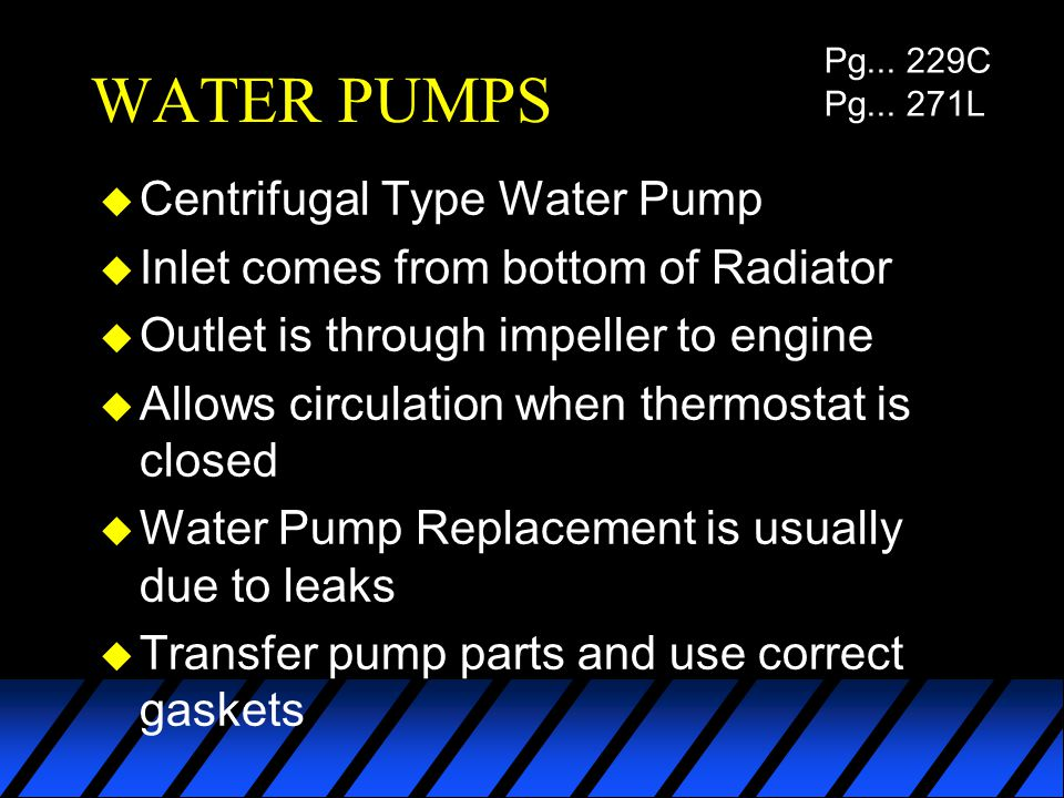 WATER PUMPS Centrifugal Type Water Pump