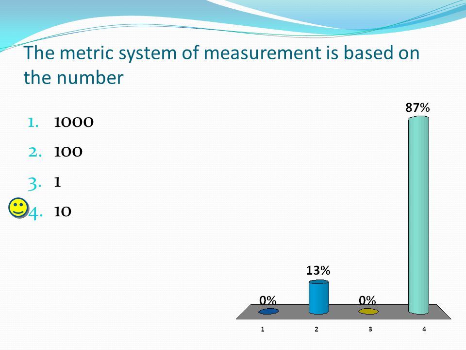 The metric system of measurement is based on the number