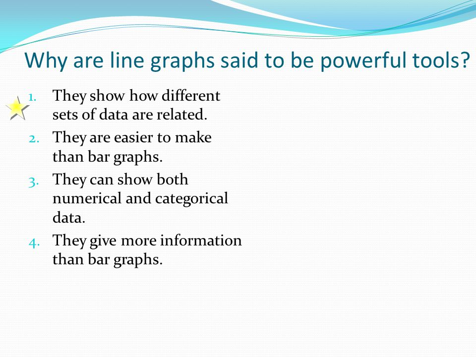 Why are line graphs said to be powerful tools