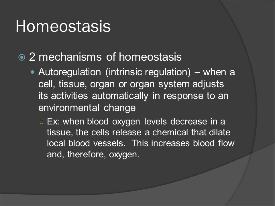 Homeostasis 2 mechanisms of homeostasis