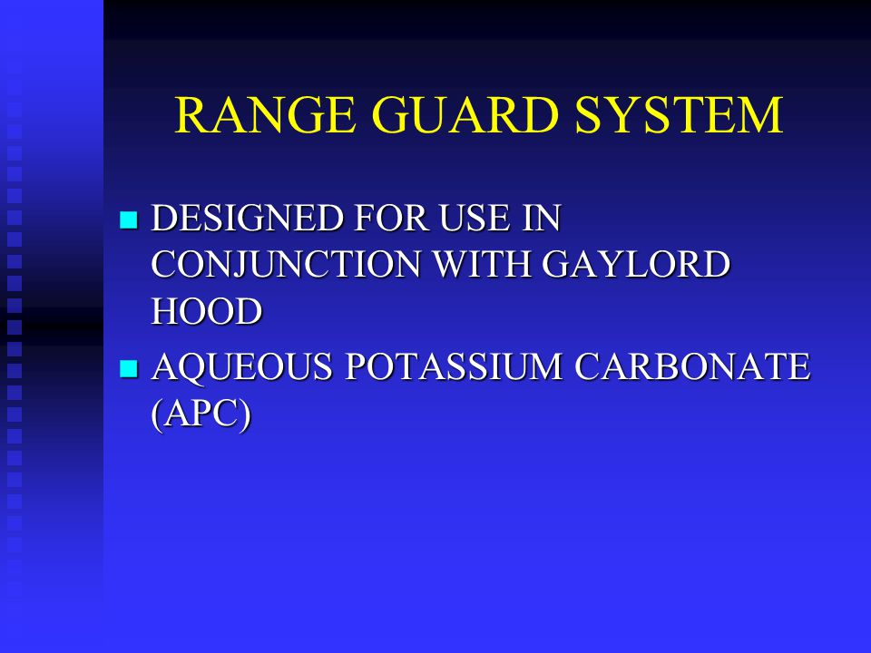 RANGE GUARD SYSTEM DESIGNED FOR USE IN CONJUNCTION WITH GAYLORD HOOD