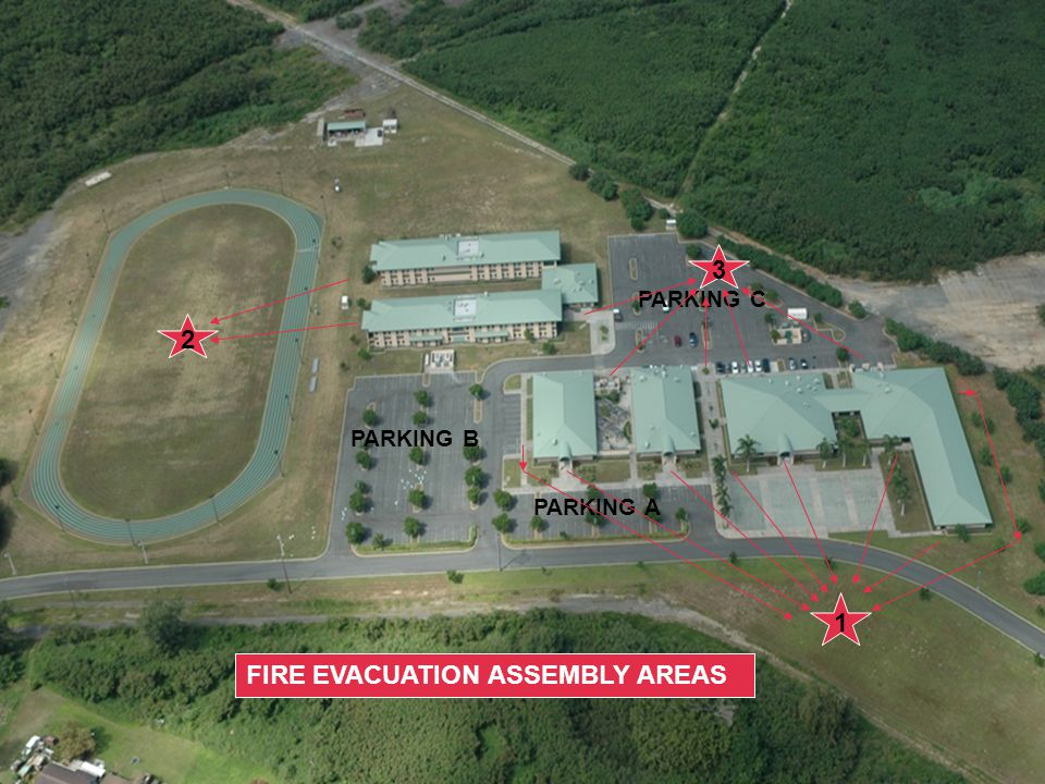 FIRE EVACUATION ASSEMBLY AREAS