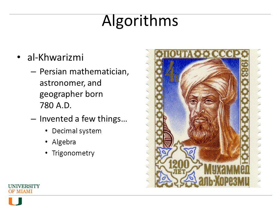 Algorithms al-Khwarizmi