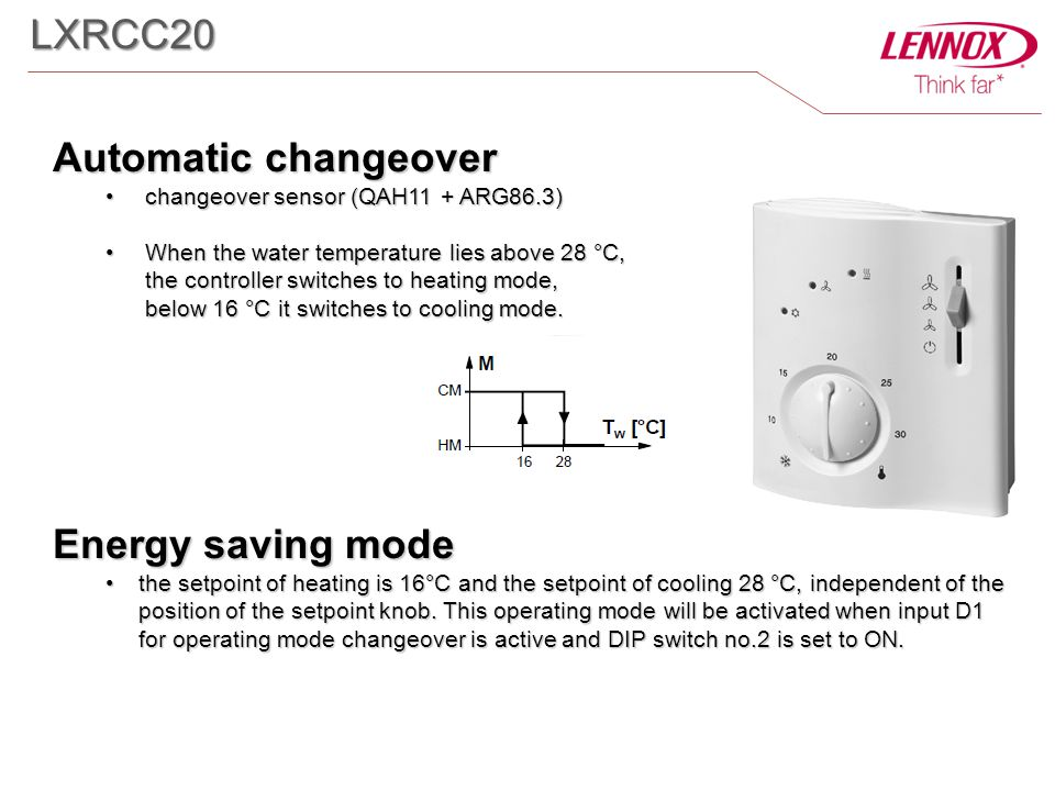 LXRCC20 Automatic changeover Energy saving mode