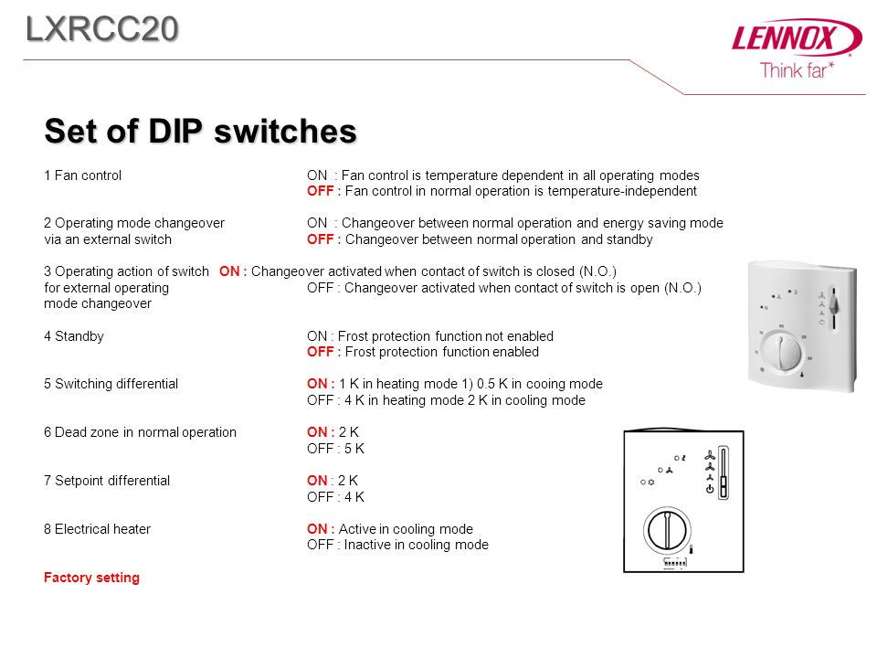 LXRCC20 Set of DIP switches