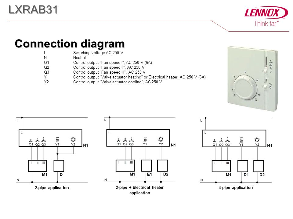 Connection diagram L Switching voltage AC 250 V