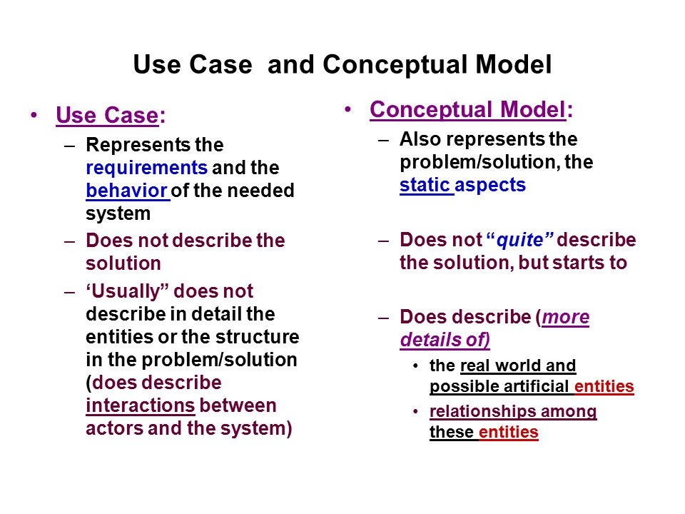 Use Case and Conceptual Model