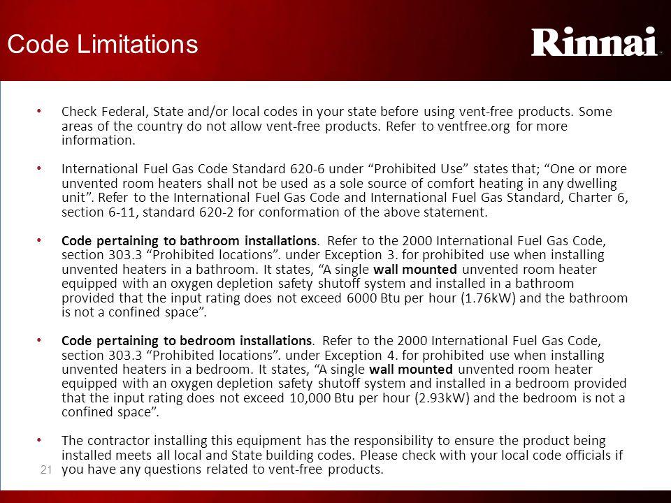 Code Limitations