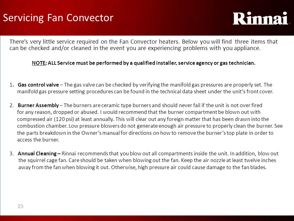 Servicing Fan Convector