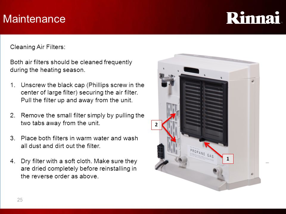 Maintenance Cleaning Air Filters:
