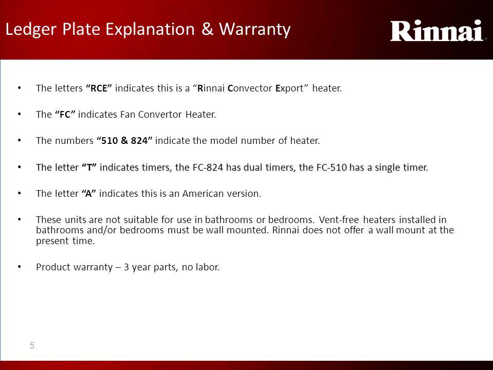 Ledger Plate Explanation & Warranty