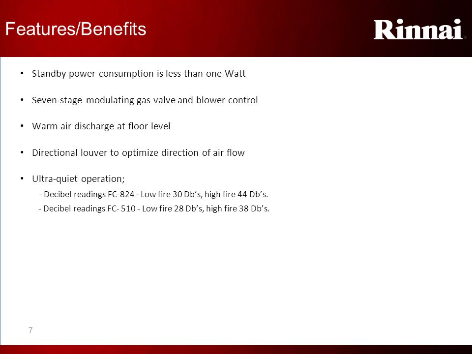 Features/Benefits Standby power consumption is less than one Watt