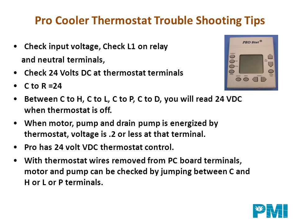 Pro Cooler Thermostat Trouble Shooting Tips