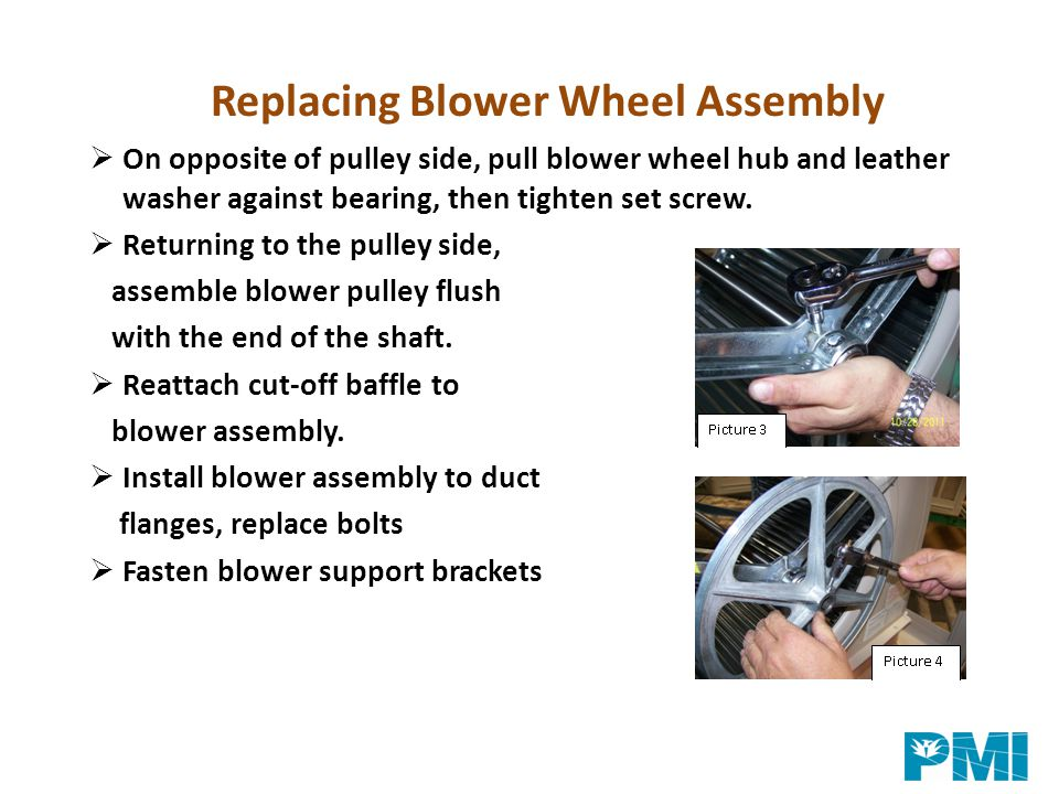 Replacing Blower Wheel Assembly