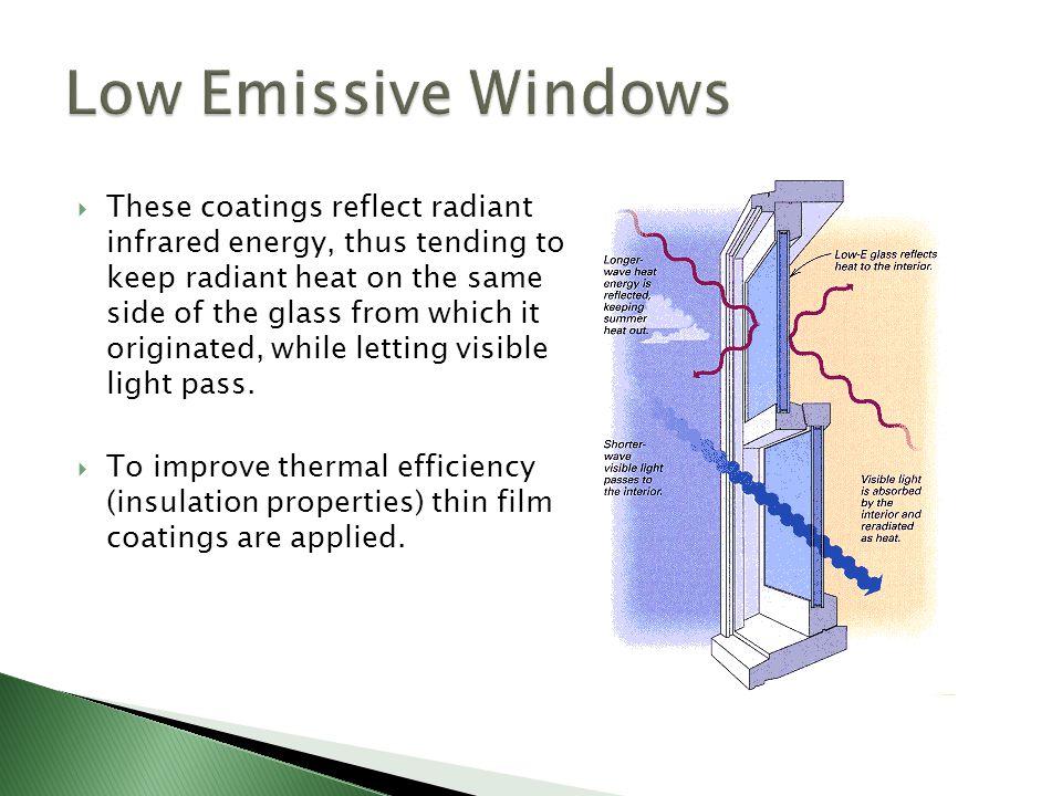 Low Emissive Windows