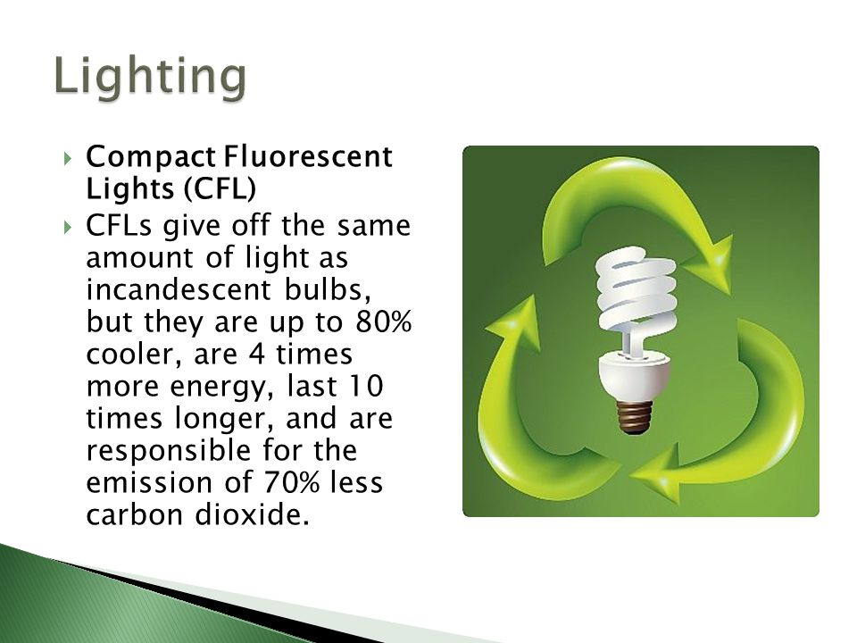 Lighting Compact Fluorescent Lights (CFL)