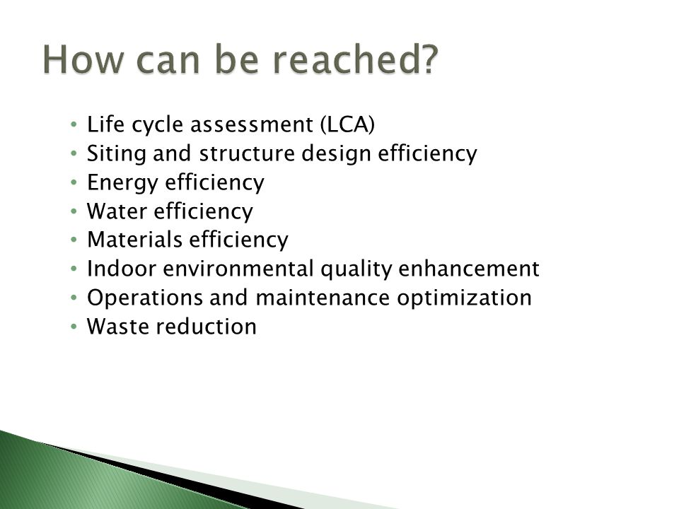 How can be reached Life cycle assessment (LCA)