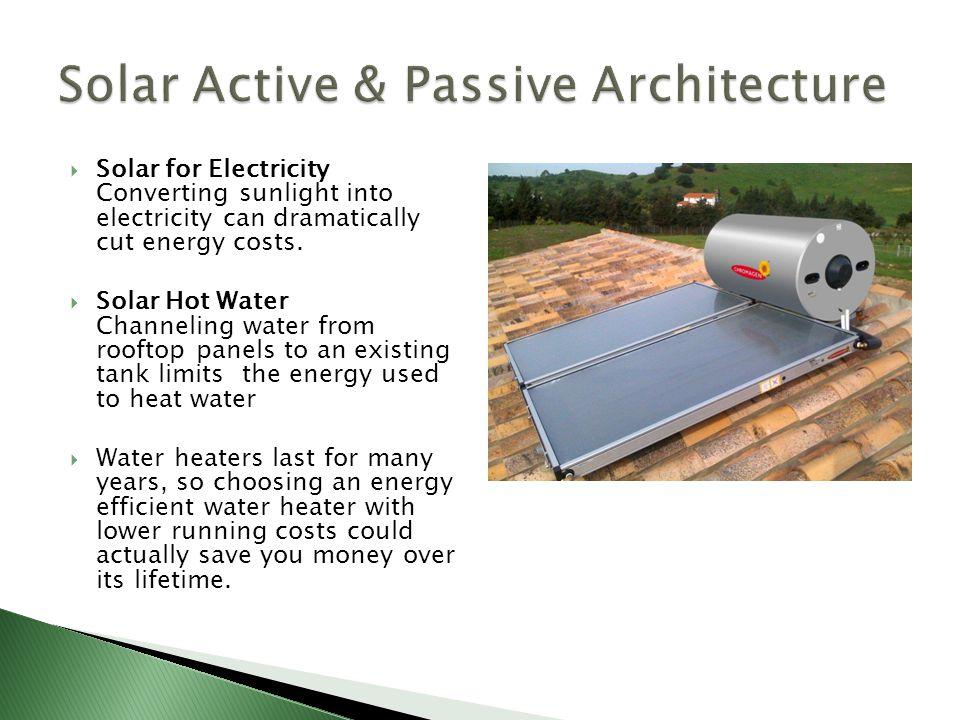 Solar Active & Passive Architecture