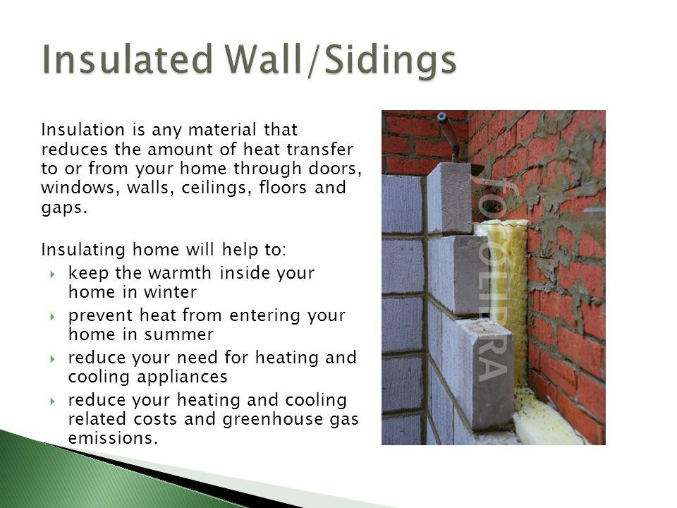 Insulated Wall/Sidings