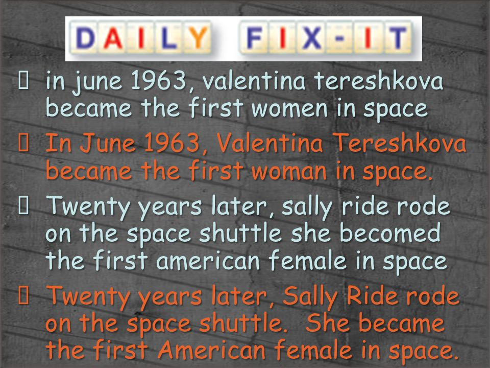 in june 1963, valentina tereshkova became the first women in space