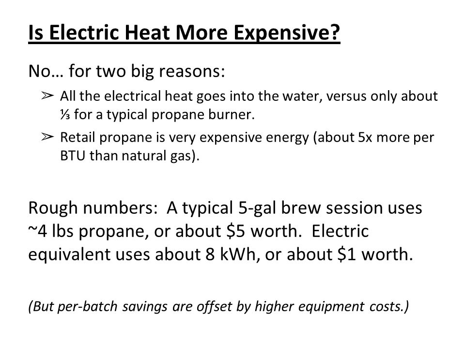 Is Electric Heat More Expensive