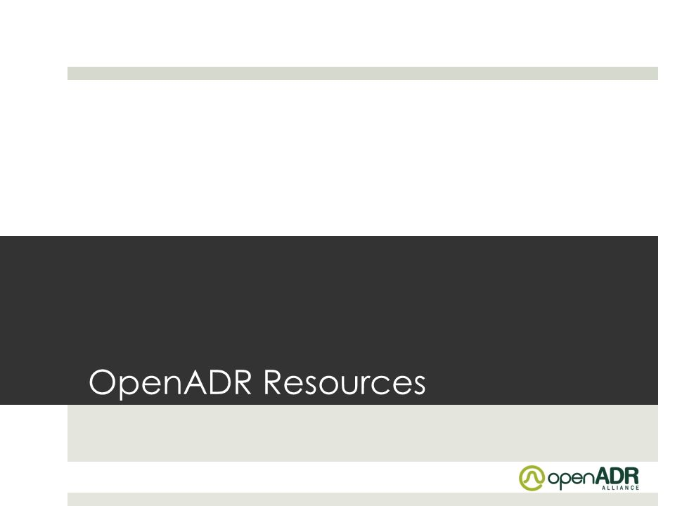 OpenADR Resources
