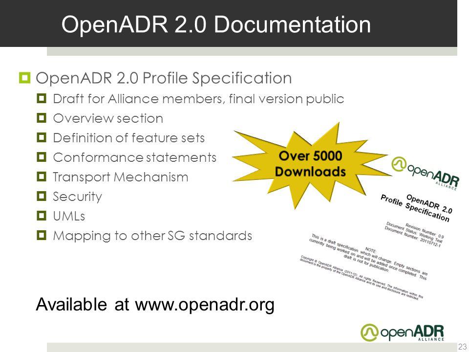OpenADR 2.0 Documentation