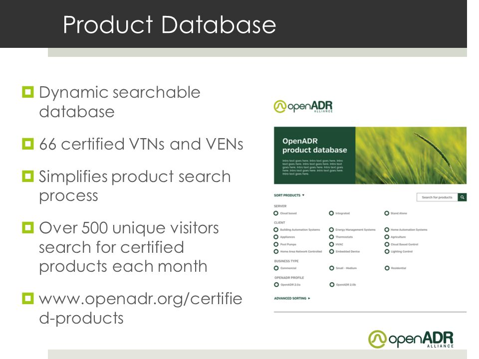 Product Database Dynamic searchable database