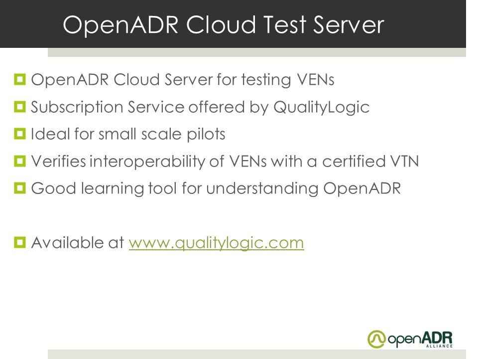 OpenADR Cloud Test Server