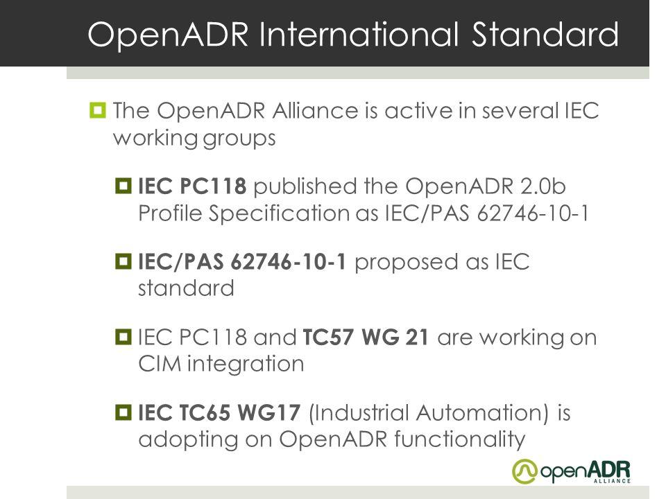 OpenADR International Standard