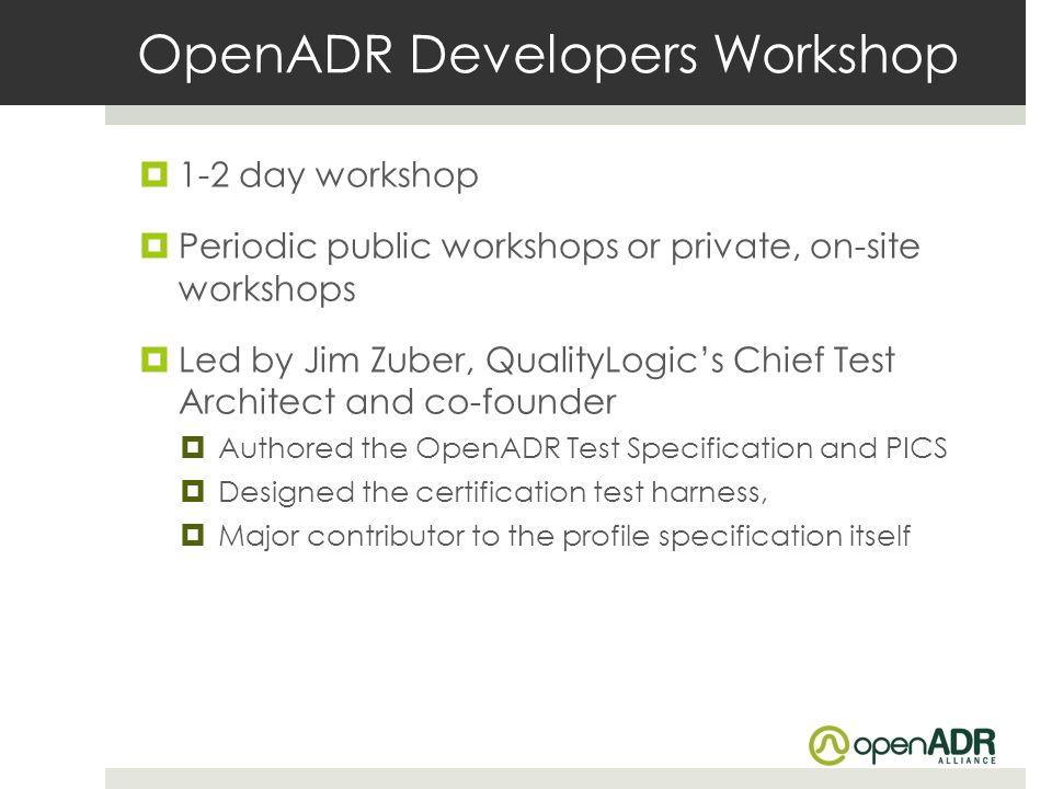 OpenADR Developers Workshop