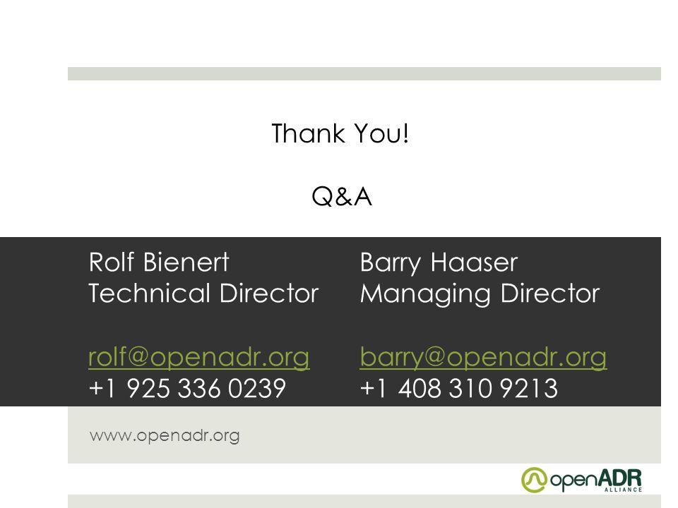 Thank You! Q&A.