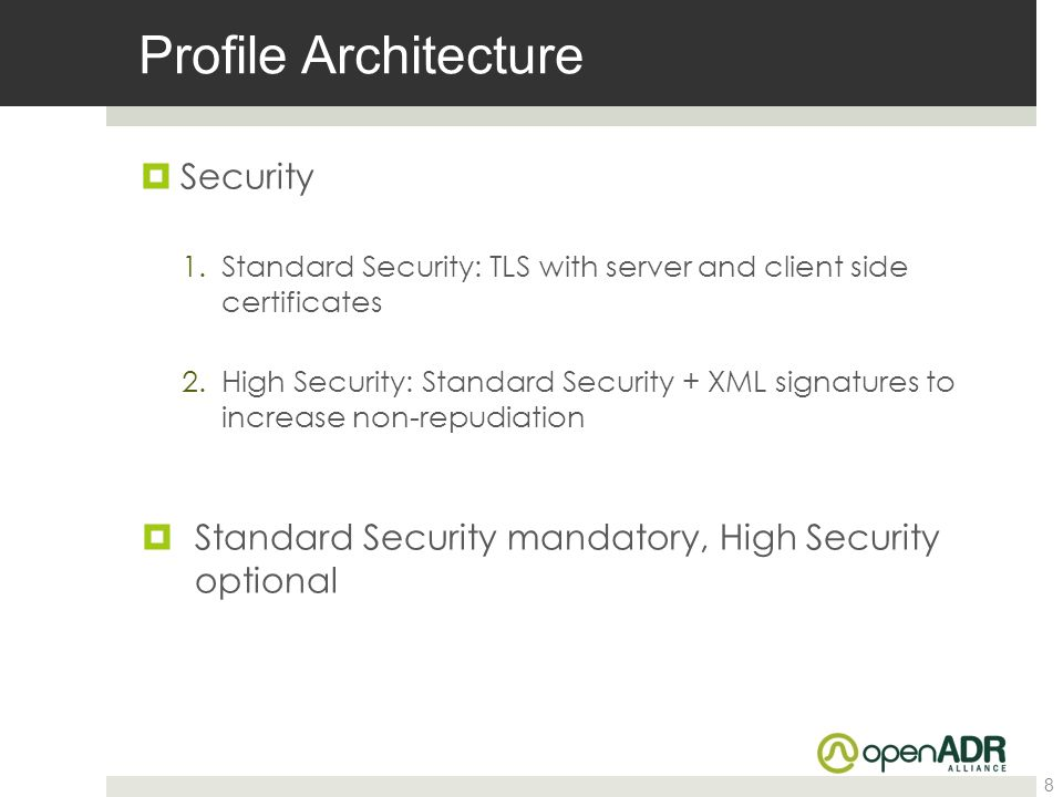 Profile Architecture Security