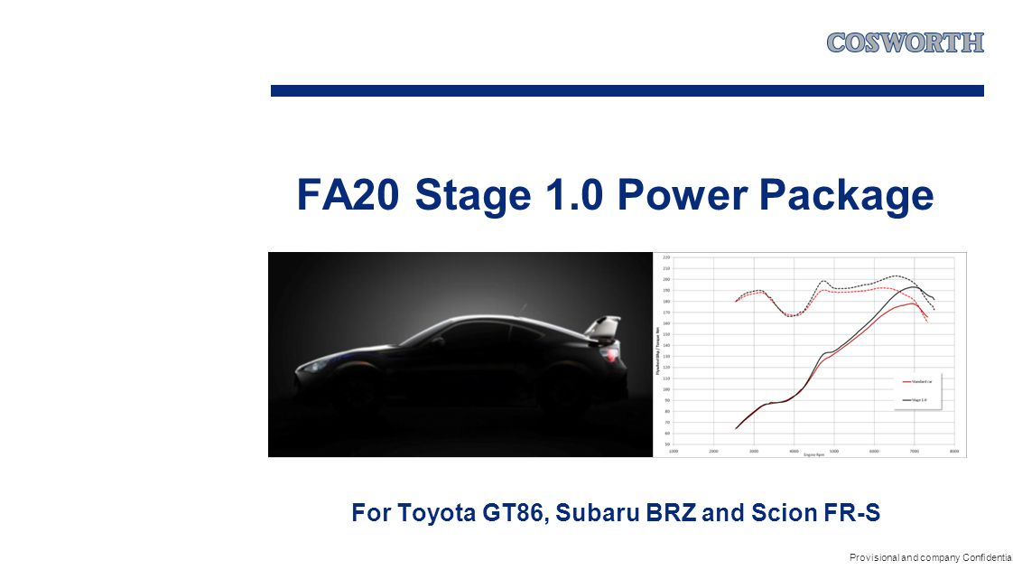 FA20 Stage 1.0 Power Package For Toyota GT86, Subaru BRZ and Scion FR-S