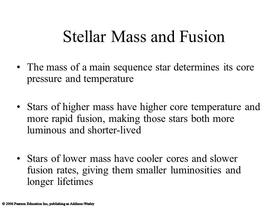 Stellar Mass and Fusion