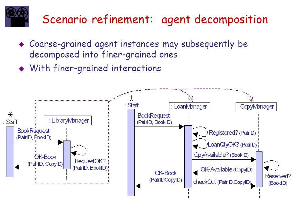 Scenario refinement: agent decomposition
