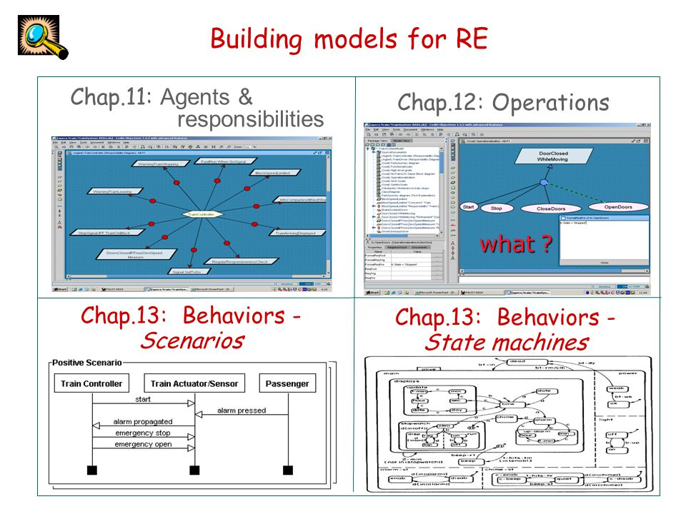 Building models for RE Chap.11: Agents & Chap.12: Operations